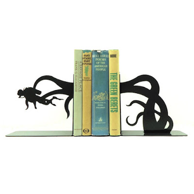 Scuba Diver and Tentacle Bookends