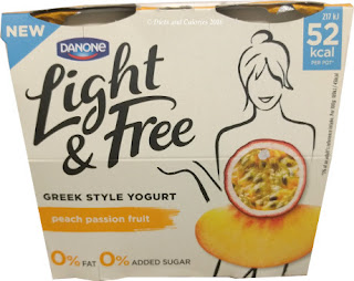 Danone Light & Free Peach Passion Fruit Greek Style Yogurt