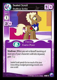 MLP Sealed Scroll, Studious Scribe Canterlot Nights CCG Card