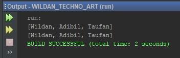 Penggunaan ArrayList menggunakan method Getter dan Setter