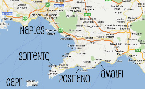 costa amalfitana mapa What Micky Eats: Travels to Naples   Amalfi Coast, Italy costa amalfitana mapa