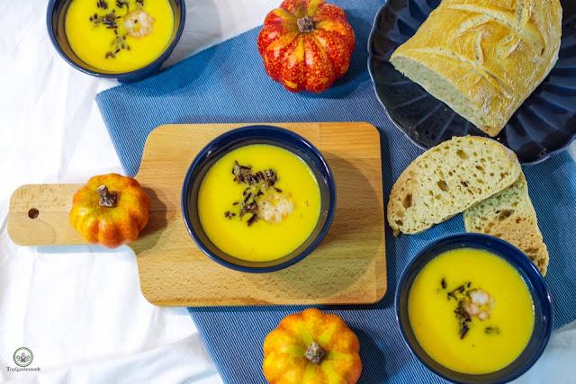 Kürbissuppe mit Mascarpone einfach und schnell Rezept - Foodblog Topfgartenwelt