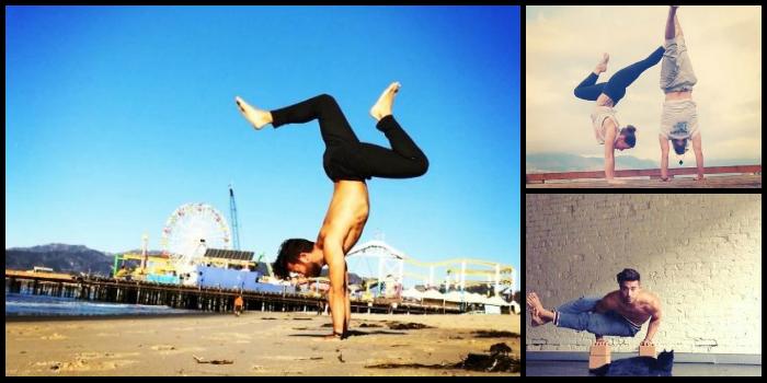 Patrick beach, instagram, yoga. Su mayor habilidad, su equilibrio. Handstands