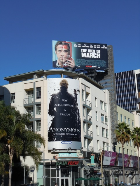 Anonymous and The Ides of March billboards