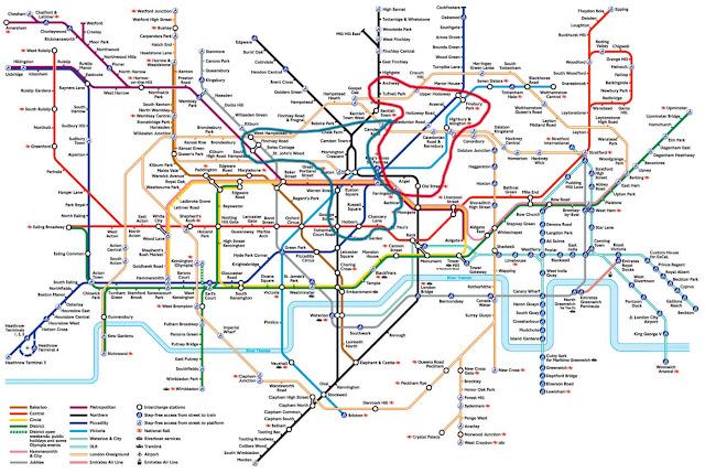 英國景點/倫敦地鐵地圖