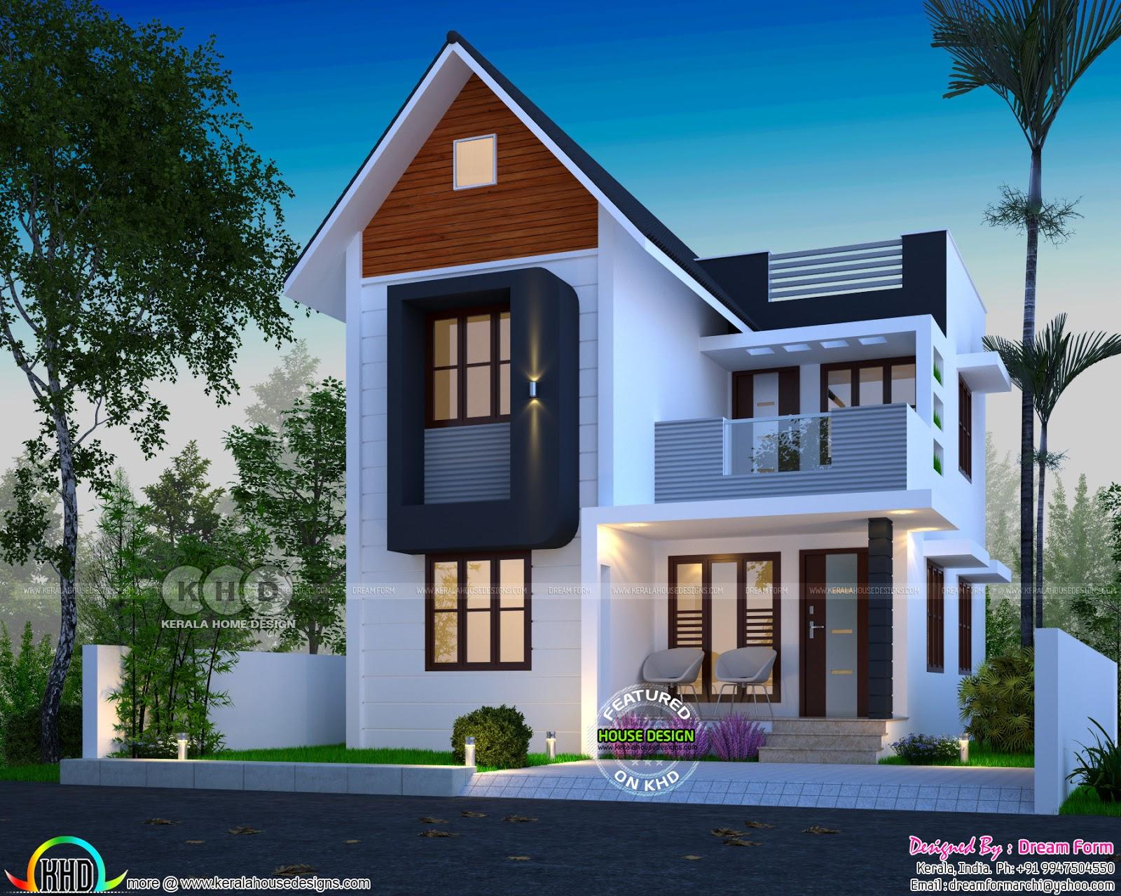 1413 Square Feet 4 Bedroom Modern House Kerala Home