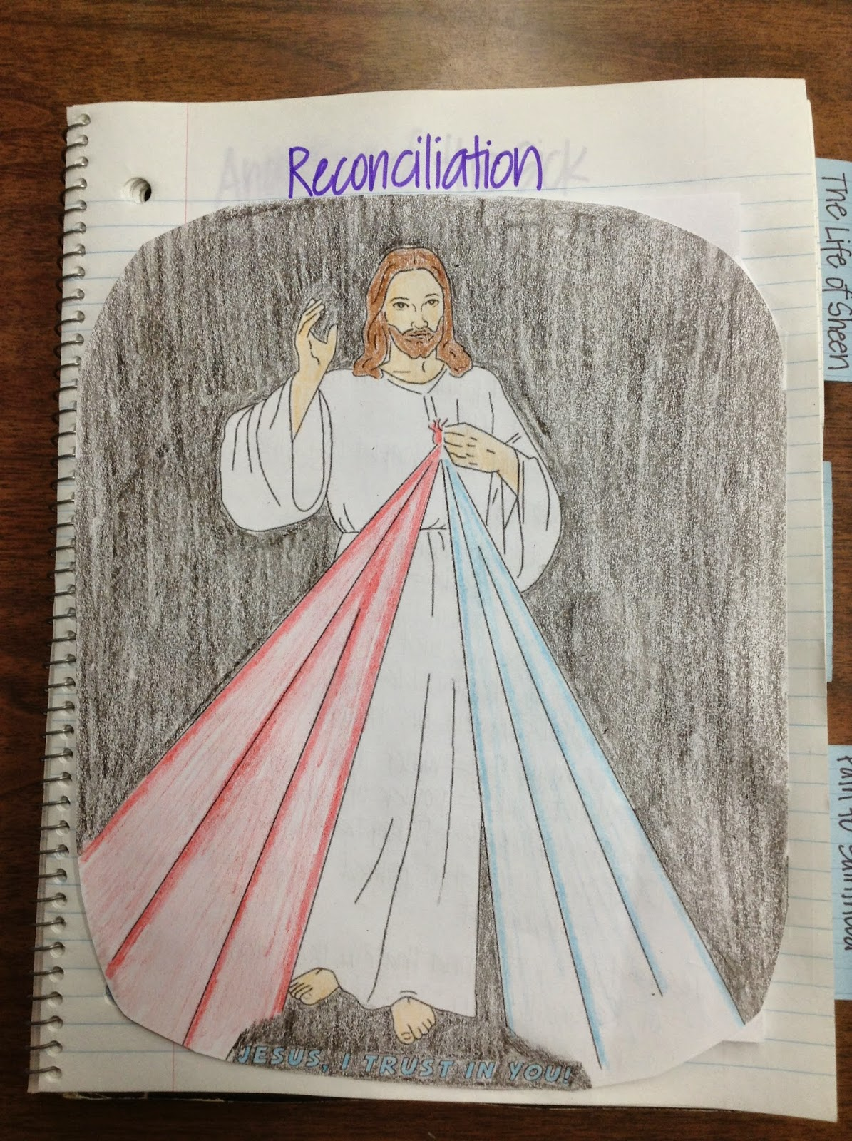 Look to Him and be Radiant: Divine Mercy Watercolor Art Page