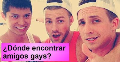 ¿Dónde encontrar amigos gays?