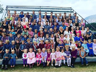 A photo of 124 of Winston Blackmore's 145 children. Handout photo for Daphne Bramham column on April 14.