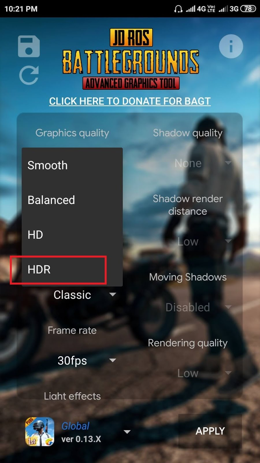 Unlock HDR Graphics in PUBG Mobile