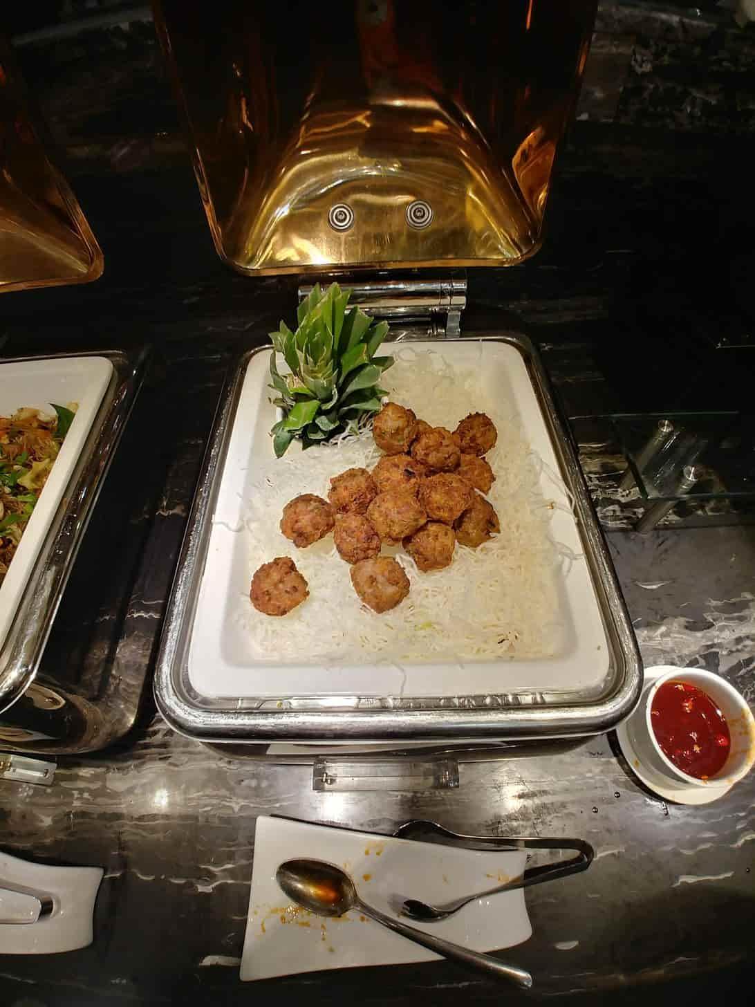 Meatballs at Buffet 101 Restaurant