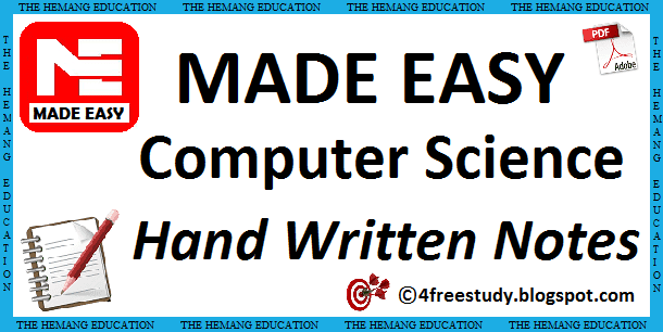 GATE Made Easy Computer Science Hand Written Notes Download