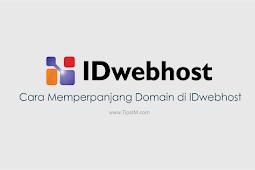 Panduan Cara Memperpanjang Domain di IDwebhost