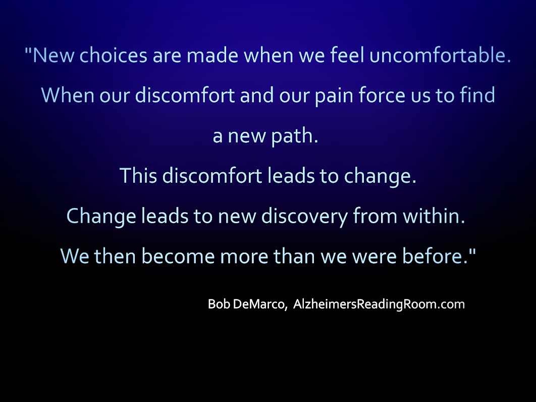 New Choices Are Made When We Feel Uncomfortable
