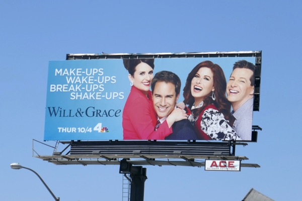 Will and Grace season 10 billboard