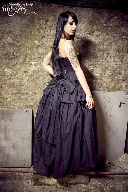 Beautiful Gothic Steampunk Wedding Dress Handmade