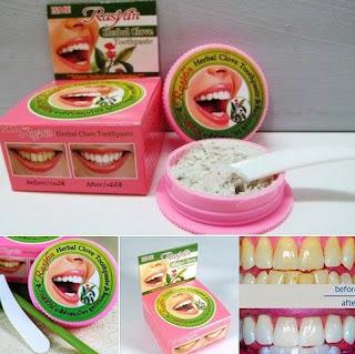 Pemutih Gigi Rasyan Herbal Clove Toothpaste Original 25gr Kosmetik