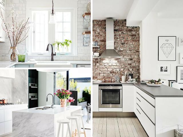 Paredes de cozinha que são parte integrante da decoração