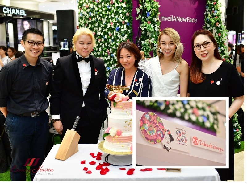 takashimaya 25th anniversary beauty event