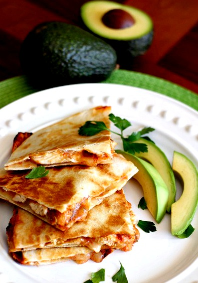 Chicken Enchilada Quesadillas  | Weight Watchers Recipe