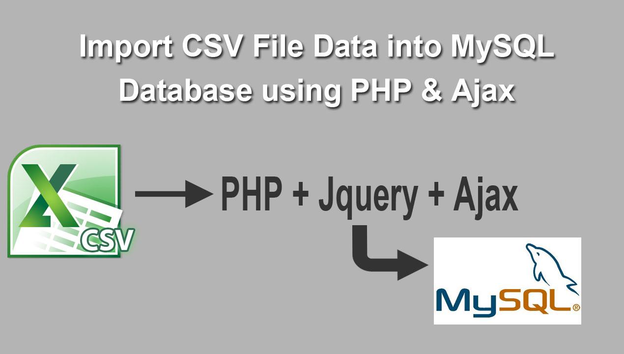 Import CSV File Data into MySQL Database using PHP Ajax