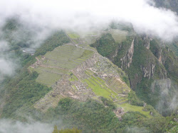 Brief Clearing: Overview of Machu Picchu from summit of Wayna Picchu