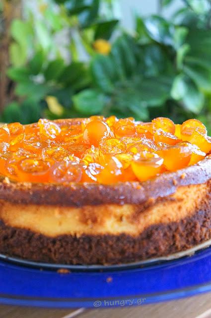 Cheesecake with Candied Kumquats