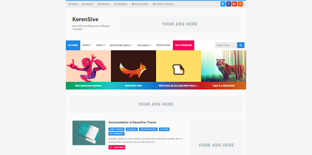 Template SEO Friendly kerensive premium blogger template