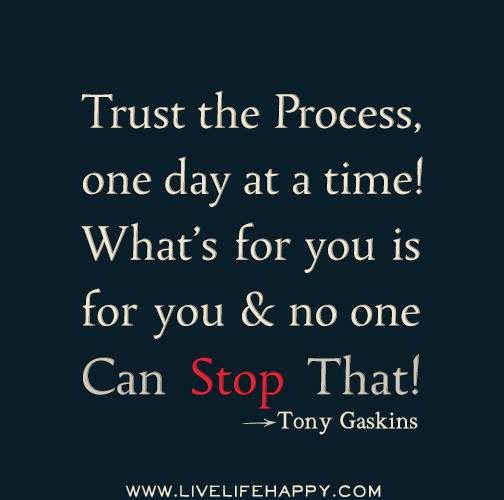 Trust The Process One Day At A Time Quotes