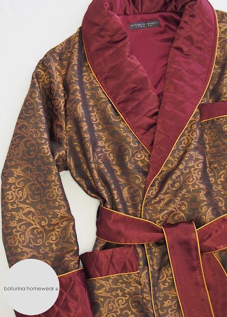 hausmantel lang herren luxus gefüttert gesteppt englischer stil dressing gown männer morgenmantel exklusiv