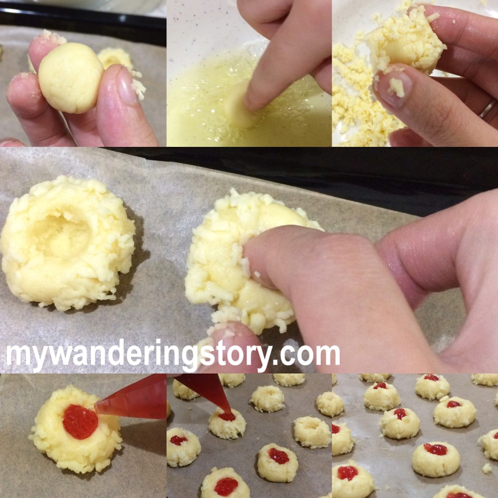 Step By In Making Thumbprint Cookies