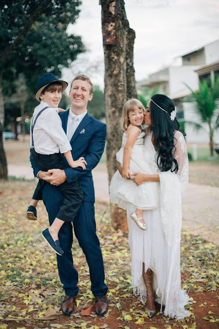 casamento real, sandra e renato, noivos e filhos, brasília