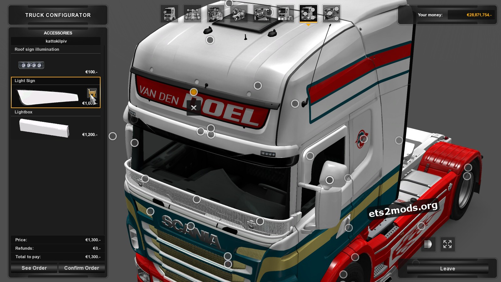 Scania RJL Van den Doel Int. Transport Skin