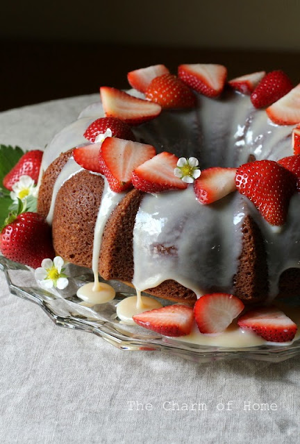 Buttermilk Strawberry Bundt Cake
