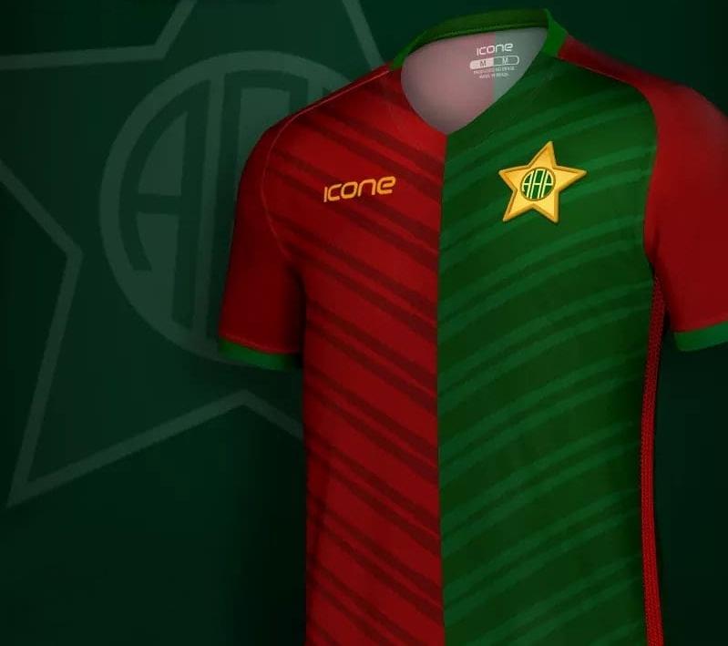 Ícone Sports lança a quarta camisa da Portuguesa Carioca - Show de ... 4da4f5553f160
