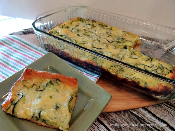 A delicious recipe for zucchini pie using fresh zucchini and crescent rolls from Walking on Sunshine.