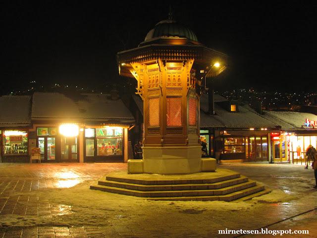 Фонтан Себильи Бруннен в Сараево