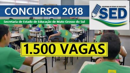 Concurso SED-MS 2018 Professor