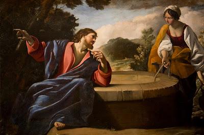 Imagem de Jesus e a mulher samaritana no poço, pintura, #1
