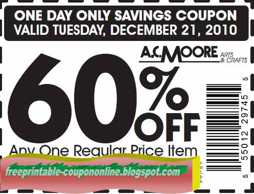 photo relating to Ac Moore Printable Coupon Blogspot named ac moore printable discount codes 2014