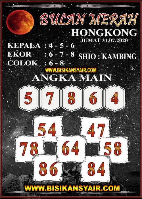 Kode syair Hongkong Jumat 31 Juli 2020 207