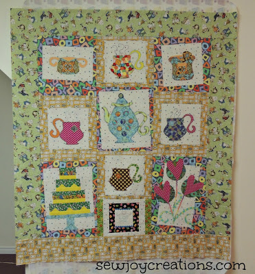 madhatter tea party quilt challenge by Pat Sloan