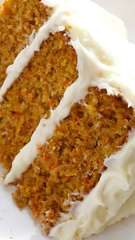 This classic carrot cake recipe is moist, perfectly-spiced and made with lots of fresh carrots and a cream cheese frosting.