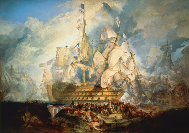 http://commons.wikimedia.org/wiki/File:Turner,_The_Battle_of_Trafalgar_%281822%29.jpg