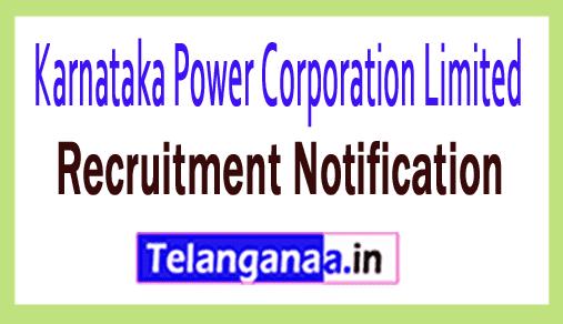 KPCL Karnataka Power Corporation Limited Recruitment Notification