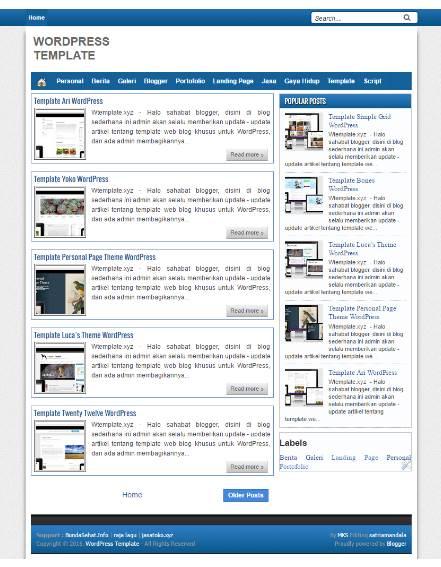 Jual Blog Niche Abadi Template Wordpress Murah