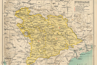 Old Map of Hyderabad
