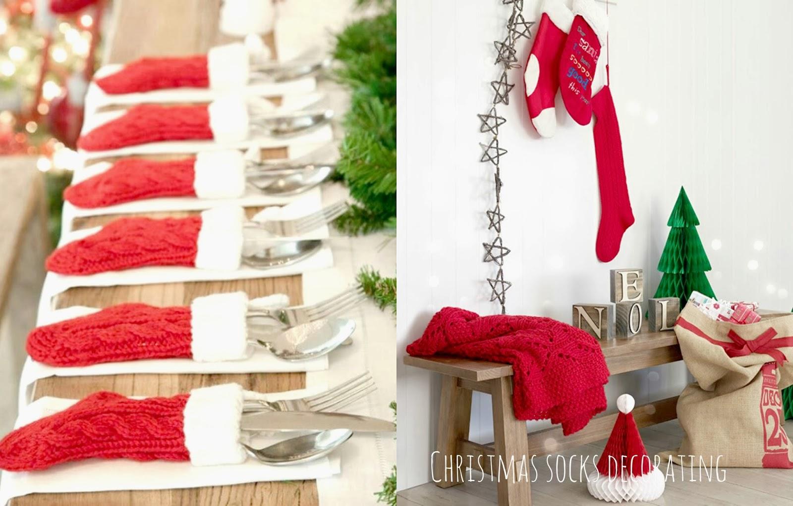 świąteczne skarpety