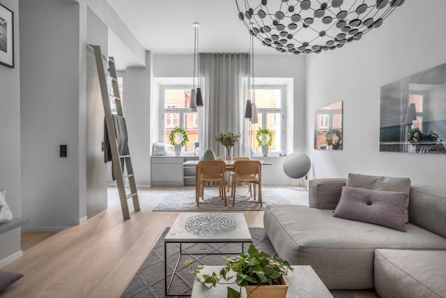 Proiect de amenajare pentru un apartament cu dormitor la subsol