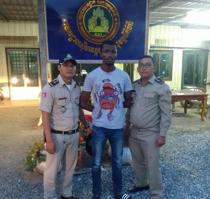Photo: Nigerian man arrested by immigration police for living, working illegally in Cambodia